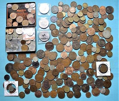 British Coin Collection, Inc Silver, Older Coppers, Tin Decimal + Loose Coins.