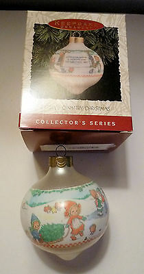 1993 Hallmark Betsey Clark Country Christmas Glass Ornament - Mint In Box