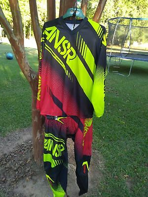 Answer Racing Syncron 2017 Mx Gear Large/36 Combo Acid Black Red