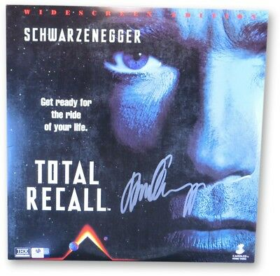 Arnold Schwarzenegger Signed Autographed Laserdisc Cover Total Recall GV865953