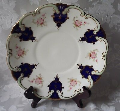 Beautiful Vintage Collingwoods Bone China Cake Plate  Floral Gilded