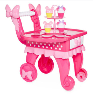 Minnie Mouse Play Kitchen with Cart and cupcakes & dishes 10 Piece Set Disney