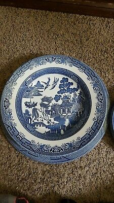 """10 pcs Churchill Blue """"Willow"""" dish set Made In England! (Great Condition)"""