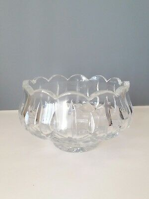 """Waterford Scalloped Scallop Bowl Dish Cut Crystal 6.5"""""""