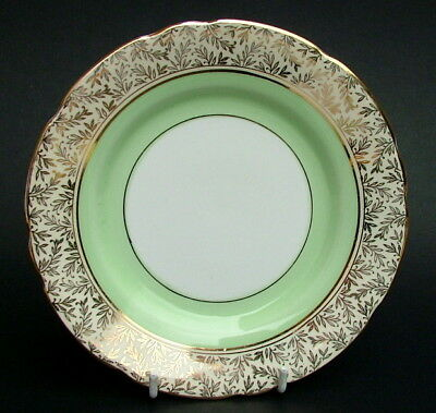 1950's Royal Stafford 8206 Apple Green Lg Side or Bread Plates 17cmw Look in VGC