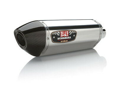 Yoshimura R-77 Exhaust System Stainless Muffler/ Carbon End Cap (1118100220)