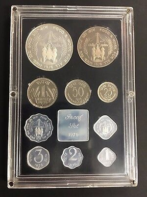 1976 India Mint Proof Coin Set