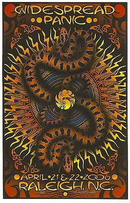 MINT Widespread Panic Raleigh 2006 Everett SIGNED Poster Edition Of 50