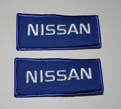 2 Vintage Nissan Automotive Car Blue Cloth Patch New NOS 1980s 280z 300z