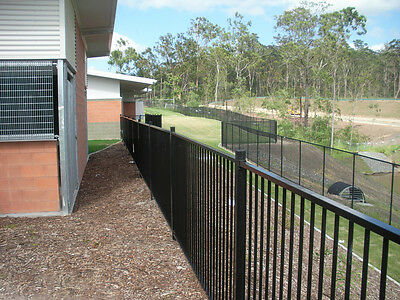 Black Flat top / garden fence  1.2m*2.4m Only $53.00/panel