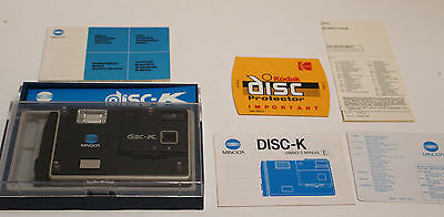 VINTAGE Minolta Disc-K Camera in original box & packaging