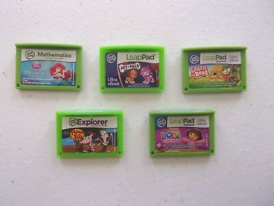 Leap Frog Pad 2 3 Explorer GAME Cartridge Lot of 5 LeapPad. FREE USA SHIPPING