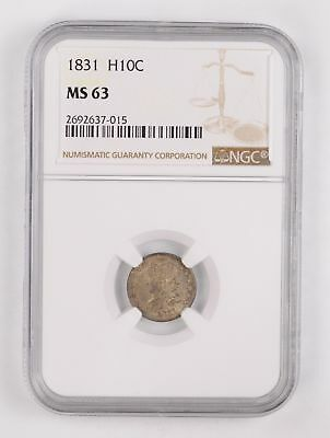 MS63 1831 Draped Bust Half Dime - NGC Graded *2571