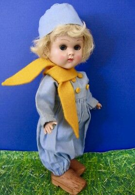 Darling Vintage Hard Plastic Slw Ginny Doll (Boy) Made By Vogue In 1955