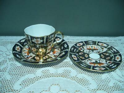 Royal Crown Derby Vintage Imari Duo With Matching Small Side Plate - 1919 - Vgc
