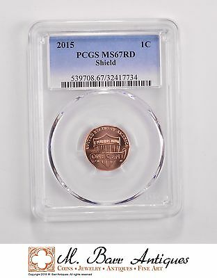 MS67RD 2015 Lincoln Shield Cent - Graded PCGS *5664