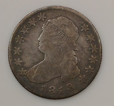 1818 Capped Bust *Normal Date* Silver Quarter *G94