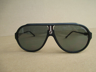 Vintage Carrera Sunglasses 5565 Matte Black Frame Gray Lens Made In Austria