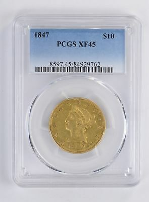 XF45 1847 $10.00 Liberty Head Gold Eagle - PCGS Graded *2695