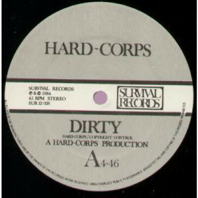 """HARD CORPS Dirty 12"""" VINYL UK Survival 1984 2 Track B/W Respirer To Breathe"""