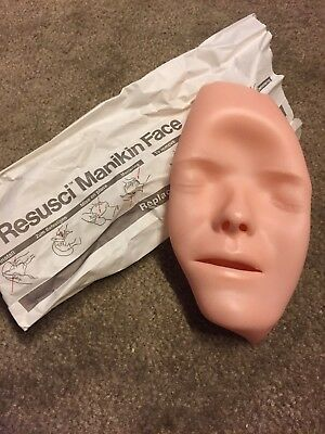 ONE New Laderal Resusci Replaceable Manikin Face CPR Dummy Mask. free shipping