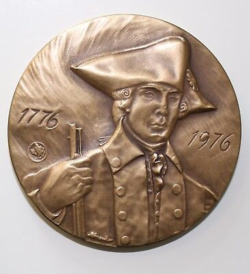 1976 New York State American Revolution Medal by Metallic Art Company - 63 mm.