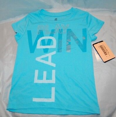 New Girls Blue Champion C9 Play Win Lead Athletic Shirt Size XS 4-5