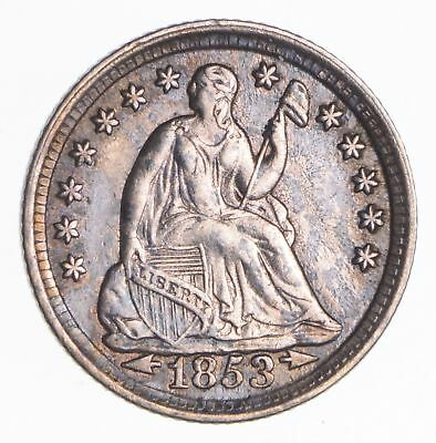 1853 Seated Liberty Half Dime - Near Uncircualted *2652