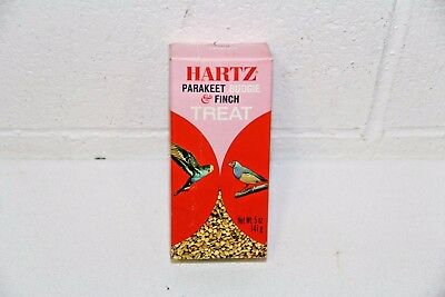 Vtg HARTZ Mountain Parakeet Finch Canary Bird Budgie Treat SEALED BOX NEW! 5 oz