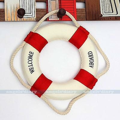 Welcome Nautical Decor Lifering Lifebuoy Home Party Wall Hanging Decor Red 20CM