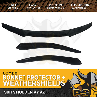 Holden Commodore VY VZ Bonnet Protector & Window Visors Weather Shields