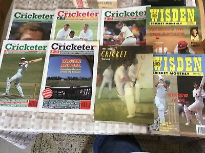 Vintage The Cricketer And Wisdens Magazines Joblot