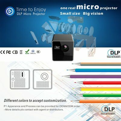 P1 DLP Mini Projector 1080P HD Beamer 3.5mm Audio Port For Home Outdoor Use GS