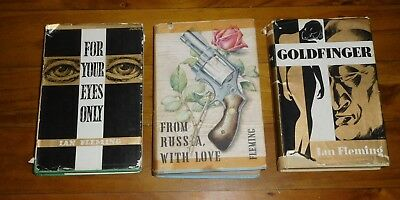 3 JAMES BOND by IAN FLEMING 1st Edition Book Club Books