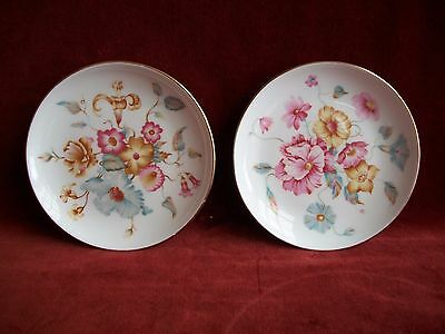 FLORAL DISHES  (2 Small dish ) ( England  )