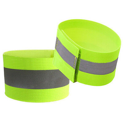 Safety Reflective Arm Band Belt Strap For Outdoor Sports Night Running Bike New