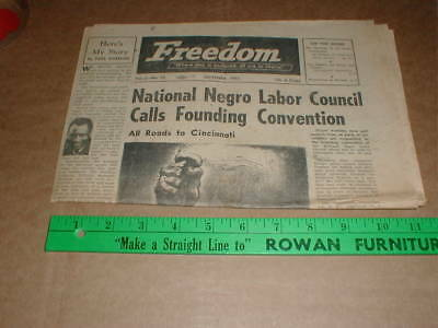 1951 vintage Paul Robeson Rare Freedom old Newspaper Negro Labor NAACP Harlem NY