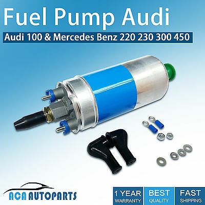 130 LPH 5Bar 60mm Inline Fuel Pump Audi 80 100 / Mercedes Benz 220 230 300 450