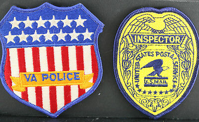 Obsolete US Postal Service Inspector's Patch & Federal VA Police Patch