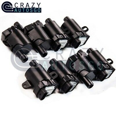 8X Round Ignition Coils on Plug Pack For Chevy GMC Truck V8 4.8L 5.3L 6L UF-262