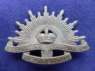 WW1 Australian Commonwealth Military Forces Rising Sun Hat Badge