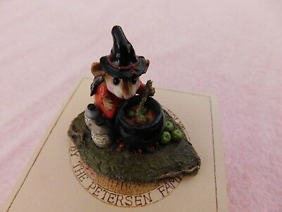 """Wee Forest Folk Halloween Mouse """"Something's Brewing"""" M-215  W/Box-Retired 2008"""