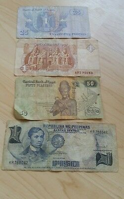 old egypt bank notes paper money