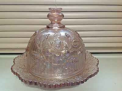 Lenox Imperial Rose Butter or Cheese Round Pink Carnival 1977 - 1981