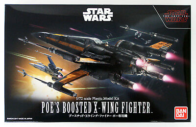 Bandai Star Wars Poe's Boosted X-Wing Fighter (The Last JEDI) 1/72 Scale 197522