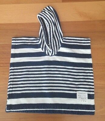 Country Road Childrens Striped Towelling Poncho - Size XS