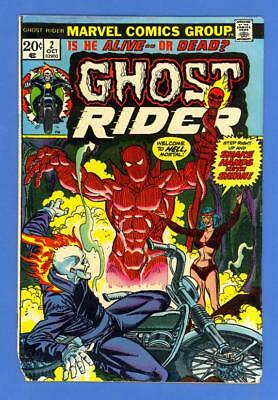 Ghost Rider #2 – Marvel (1973) – 1St Full Daimon Hellstrom Son Of Satan!