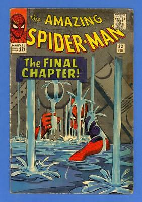 Amazing Spider-Man #33 – Marvel (1966) – The Final Chapter – Lee & Ditko!