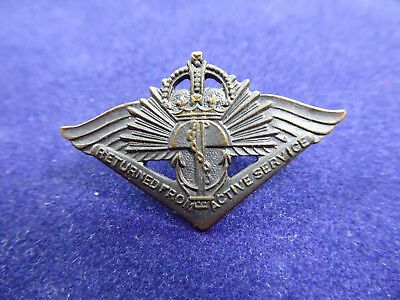 WW2 Australian Returned From Active Service Badge