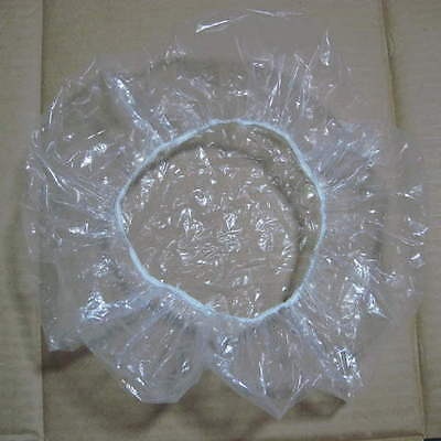 OE Disposable Clear Spa Hair Salon Home Shower Bathing Elastic Cap 20 PGX